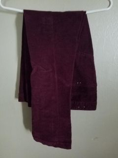 Burgundy colored corduroy jeans. Hartley moon size 10