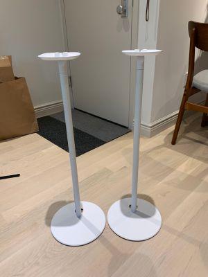2x Speaker Stands for Sonos White