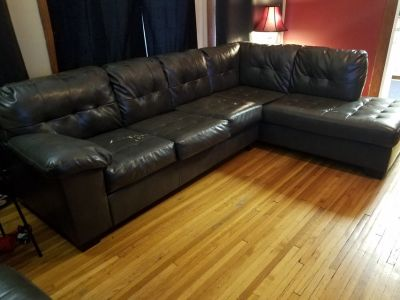 L Shaped couch Gray