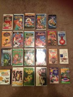 Large lot kids VHS movies