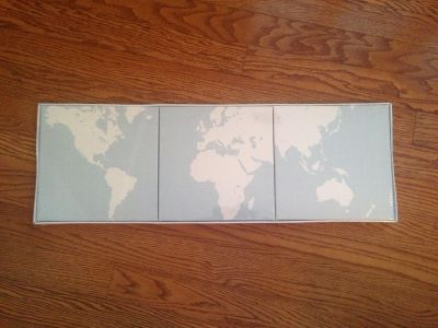NEW! IKEA - set of 3 pictures World globe *Porch Pickup*
