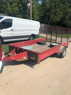 12 foot trailer with gate ramp