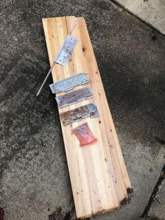 Cedar boards to make a 4 x4 raised bed *Porch Pickup*