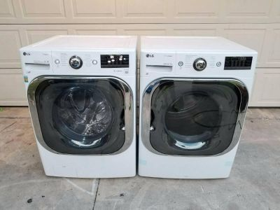 LG super large capacity washer and dryer