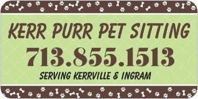 Pet Sitting Serving Kerrville & Ingram