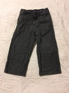 Gymboree grey herringbone pants 3T