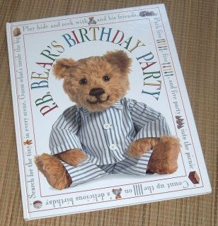 RARE Vintage 2001 PM Bears Birthday Party Over Sized Hard Cover Book Pre-school & Early Learning