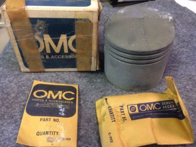 Sell NOS Vintage OMC Johnson/Evinrude .040 Oversize Piston, Pt #: 385290 motorcycle in Scottsville, Kentucky, United States, for US $22.50