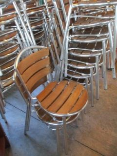 Aluminum and Teak Indoor/Outdoor Chairs RTR# 8111401-01,08