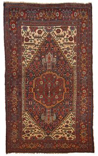 Handmade antique Persian Bidjar rug, 1B194