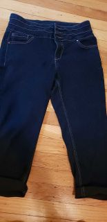 d. jeans high waist capri stretch jeans