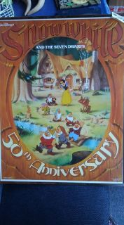 Disney s 50th Anniversary Snow White and the Seven Dwarfs Picture Measures 22 w x 28 h