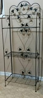 WROUGHT IRON/FOLDABLE RACK......EXCELLENT CONDITION