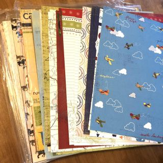 Large Lot Scrapbook Papers
