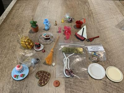 Collection of doll house items