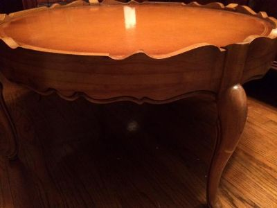 $100, AntiqueVintage Round Coffee Table 1950s