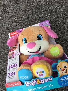 NEW IN BOX Fisher Price Laugh and Learn Dog