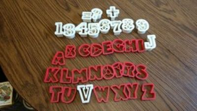 Numbers and letters cookie cutters