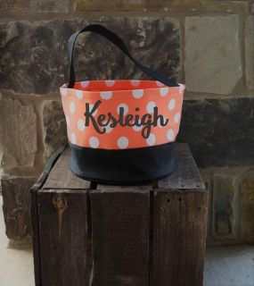 Personalized Halloween Buckets- $20 with embroidered name