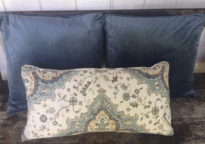3 Lovely Down Throw Pillows with Zippered Covers. Like New! All 3 for $25. CP.
