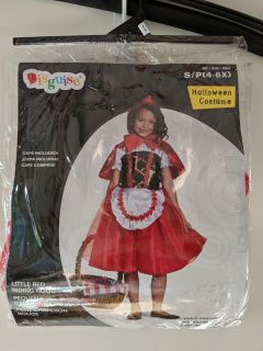 Little Red Riding Hood Costume, Size S (4-6x) - New