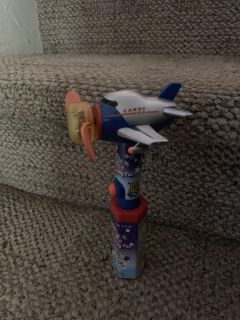 Lightup Airplane candy fan blue/white