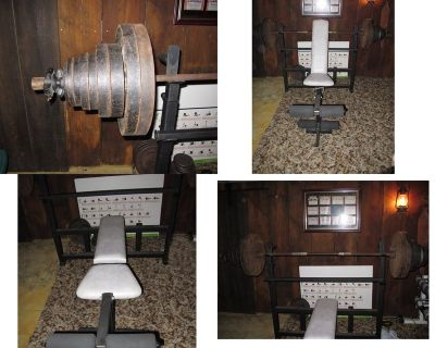 Olympic weight set w/Bench-reduced Again