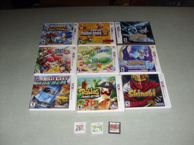 10 - 3ds games and 2 ds games