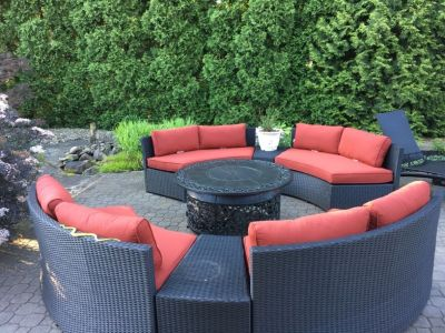 Outdoor patio furniture with fire pit new