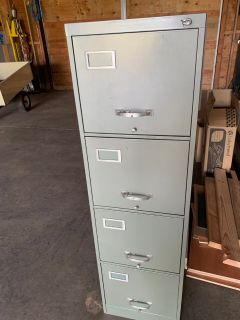 Free locking file cabinet