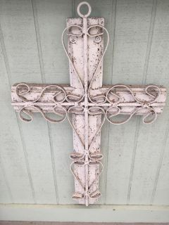 Great wood and metal cross-18 x 29