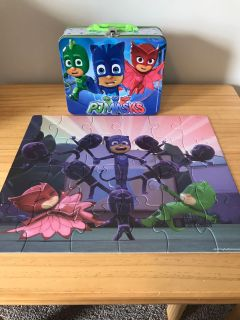 PJ Mask lunchbox and puzzle