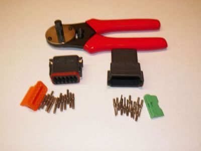 Buy Black Deutsch DT 12X connector kit with solid terminal crimper tool MALE FEMALE motorcycle in Salisbury, Massachusetts, United States, for US $62.95