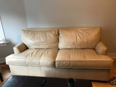 Comfortable, Like New Ethan Allen Leather Sofa