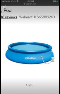 10 ft Intex swimming pool and accessories