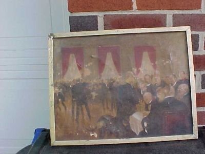 Old oil painting cut from Largest painting