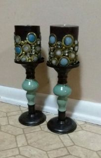 POTTERY BARN/CANDLES & CANDLE HOLDERS......NEW CONDITION