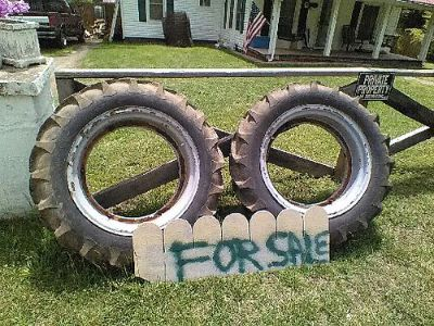 TRACTOR TIRES, (2) 11.2/10/28 W/TUBES, $75 FOR ...