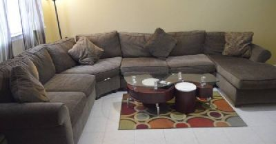 Wagner 4-pc. Chenille Sectional Sofa (Raymour&Flanigan orignal price $2300+)
