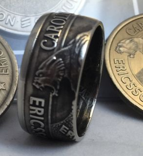 handcrafted Carolina Panthers Coin Ring