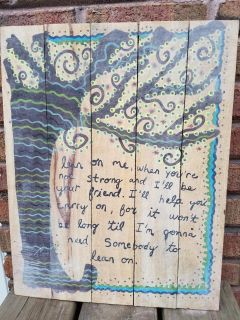 Natural life pic on old wood