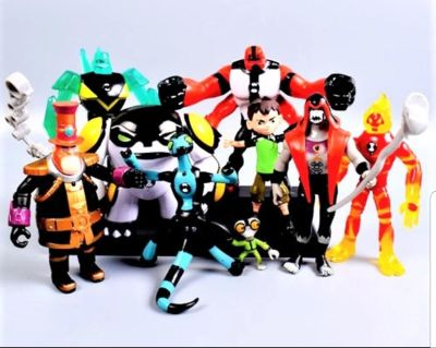 BEN 10 , CARTOON FIGURES PACK COME WITH 9 PC