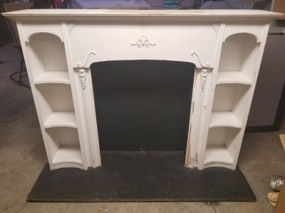 Vintage Fireplace Mantle w. Mirror
