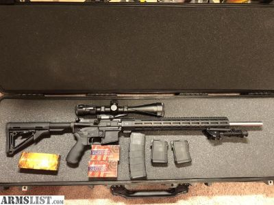 For Sale: AR15 with vortex viper scope and pelican case