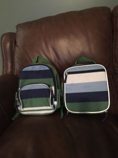Pottery Barn Kids Backpack & Lunchbox