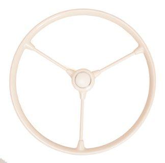 Standard Beetle 3 Spoke Steering Wheel IVORY BLACK