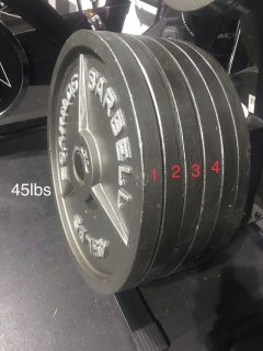 4- 45lbs weight plates