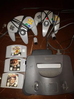 Nintendo 64 system plus 3 games and 2 controllers