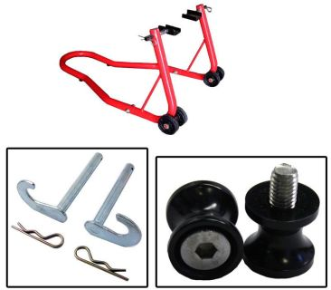 Find BikeTek Series 2 Red Rear Stand w/ Bobbin Spools Black Aprilia RSV Mille S&R All motorcycle in Ashton, Illinois, US, for US $47.89