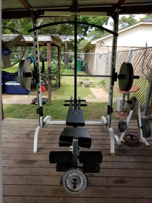 Smith Machine with 400lbs of weights $250